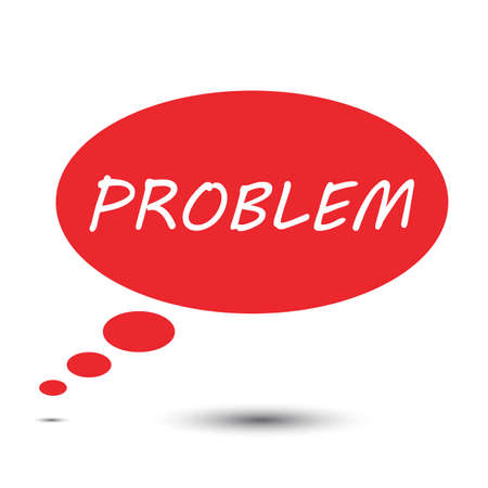 problem: Problem think bubble vector Illustration