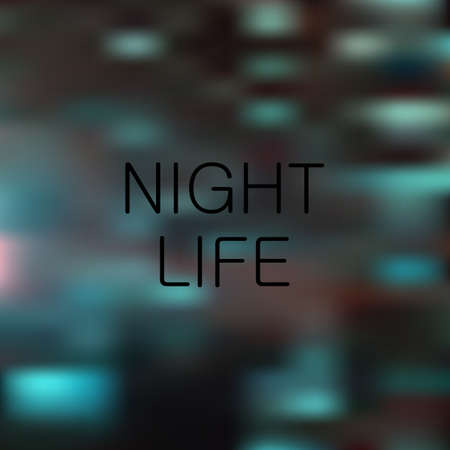 live work city: Night life vector light background