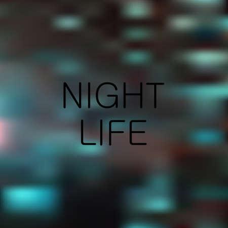 live work city: Night life vector light background