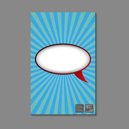 Vector Book with empty bubble for your content