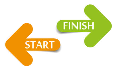 cease: Start and Finish arrows