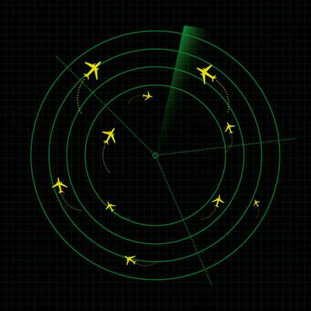 Airport radar vector graphic Illustration