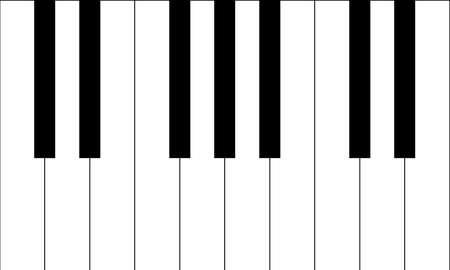 accords: Piano Keys vector graphic