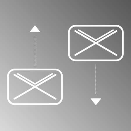 recive: Send and Recive mail icons on gray background