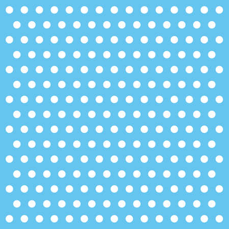 white dots on sky blue background