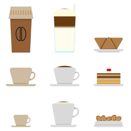 Coffee and Candy shop menu icons