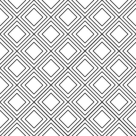 Abstract squares black and white background Illustration