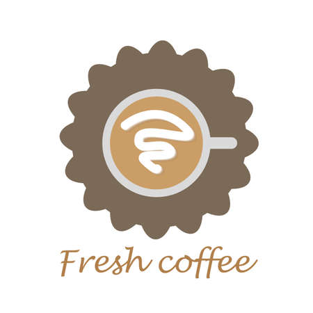 Fresh Coffee style sign on white background