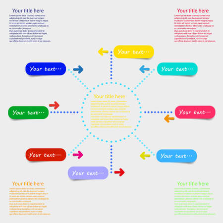 Web infographic vector color template