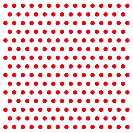 Red dots on white background Illustration