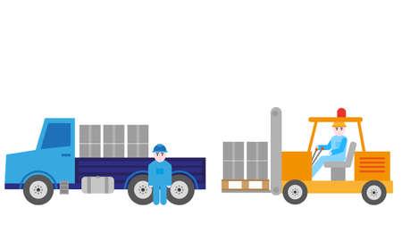 Transportation goods, vector graphic