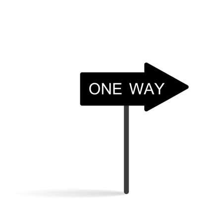 one way vector Illustration
