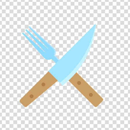 knife and fork on transparency nackground