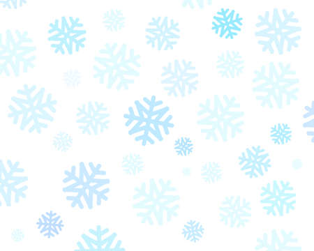 Christmas snowflakes on white background, vector graphic for web