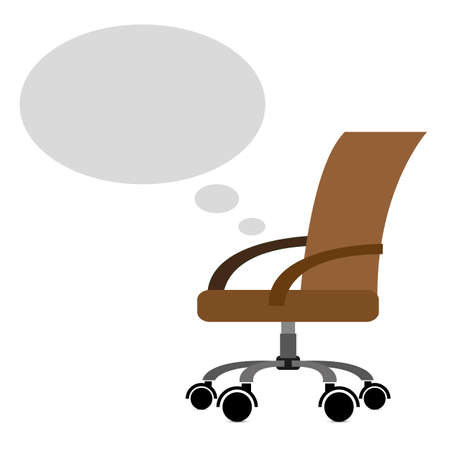 Office chair with bubble, for your content Illustration