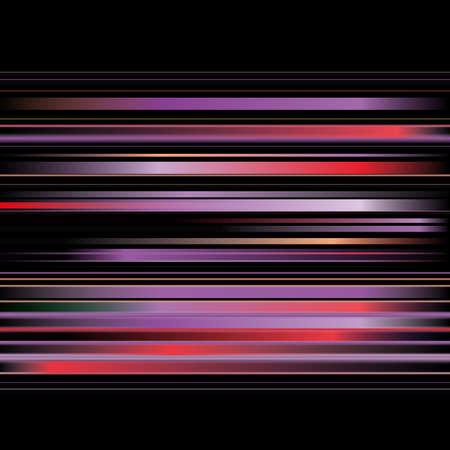 Abstract color stripes on black background Illustration