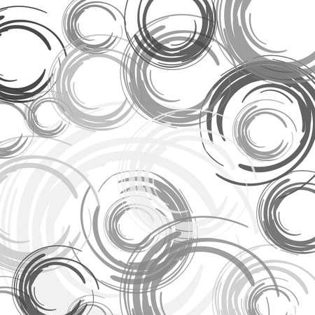 abstract color brush vector circles Illustration