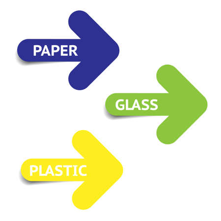 Reciclation arrows, web graphic icons on white background