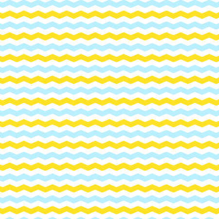 Pattern background with blue white and yellow zig-zag lines Illustration
