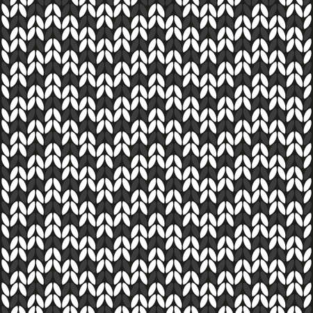 Wool white and gray texture on black background Illustration