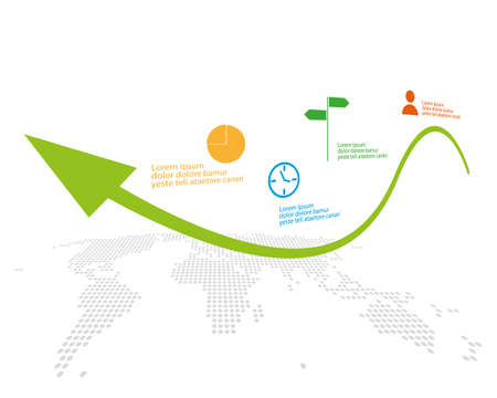 world business infographic with start up theme