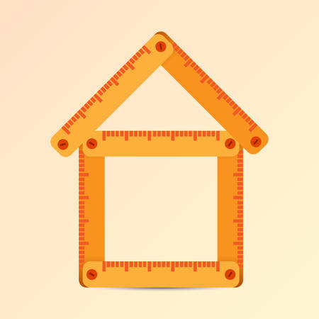 House folded from the meter Illustration