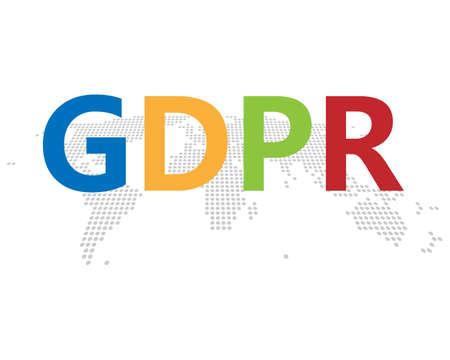 GDPR European privacy system Illustration