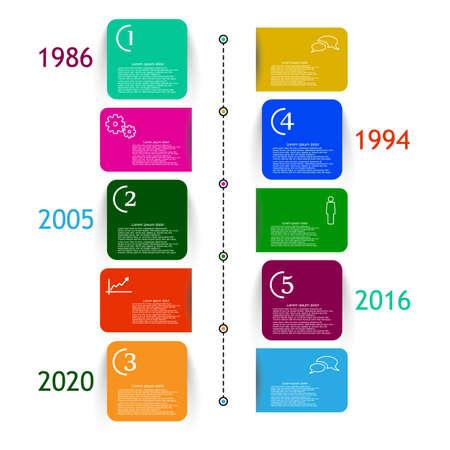 Vector infographic milestone report template Vektorové ilustrace