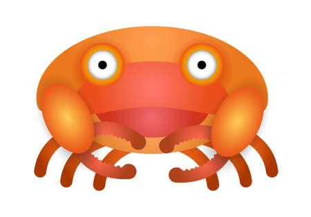 Crab illustration for kids - Vector