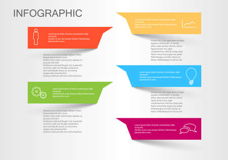 Colorful info graphic Vector Background Template new fresh color design