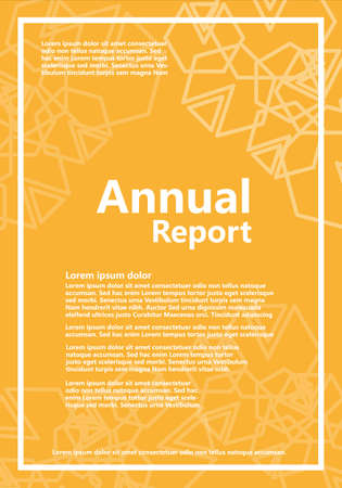 Annual Report Brochure with Abstract Shapes - Vector - Orange Version