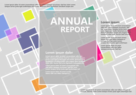 Annual Report Abstract vector Background with simple text  イラスト・ベクター素材