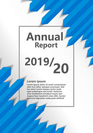 Annual Report Abstract Design Brochure with place for text - Vector  イラスト・ベクター素材