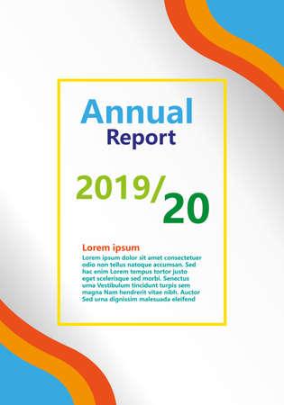 Annual report brochure. Color style version - Vector Çizim