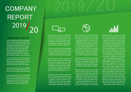 Company reprort 2019-20 template for place for textCompany reprort 2019-20 template for place for text