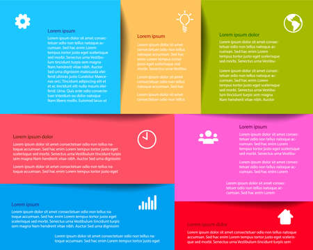 Colorful box template infographic with place for your text and content - Vector