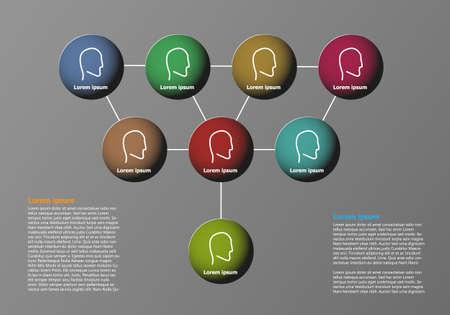 Modèle de structure d'infographie de société vectorielle avec place pour votre texte Vecteurs