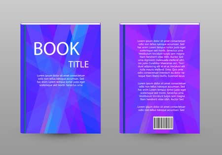 Book broshure concept with shadow - Vector graphic illustration Vektoros illusztráció