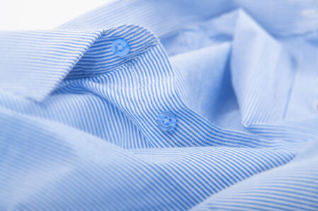 filming point of view: blue buttons down shirt close up photo