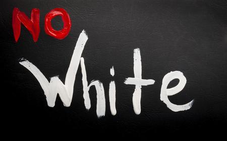 educaton: watercolor no white sign over the black board