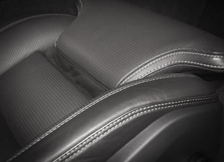 asiento coche: pefrorated de cuero negro nuevo deporte asiento de coche