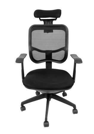swivel chairs: Black office spinning chair isolated on white background