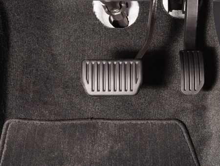 Brake and accelerator pedal of automatic transmission car Banco de Imagens