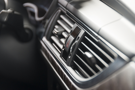 Modern car luxury interior, ac ventilation deck Stock Photo