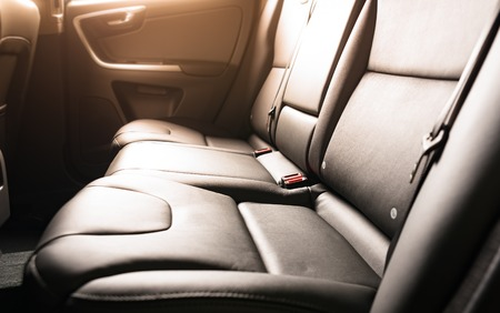 legroom: Car interior, back seats with sun light