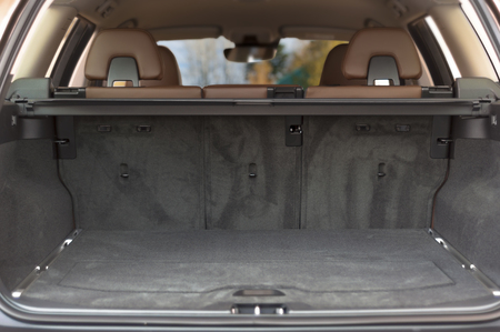Empty trunk space in modern  car interior Stock Photo