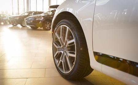 Saint-Petersburg, Russia - December 10, 2016: Modern luxury swedish manufactury car Volvo XC60 R-Design Polestar Edition on the test-drive in Sankt-Petersburg at december 10 2016
