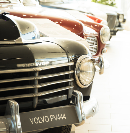 Saint-Petersburg, Russia - February 16, 2017: Swedish manufactury car Volvo PV444 in the Volvo Retro cars museum in Sankt-Petersburg at february 16 2017 Editorial