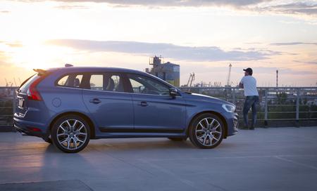 Saint-Petersburg, Russia - June 17, 2017: Modern luxury swedish manufactury car Volvo XC60 R-Design Polestar Edition on the test-drive in Sankt-Petersburg at february 16 2017