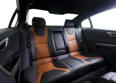 legroom: Back passenger seats in modern luxury car